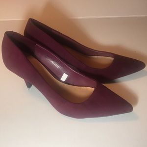 NWOT Burgundy Pointy Toe Pumps Size 11